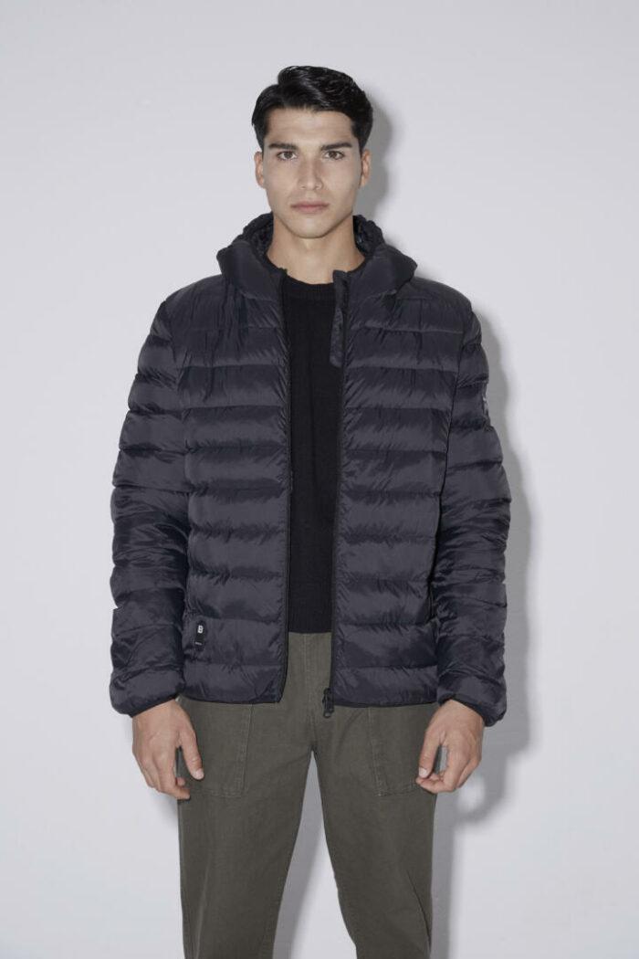 Chaqueta con capucha HEAT/01 | Coal Black